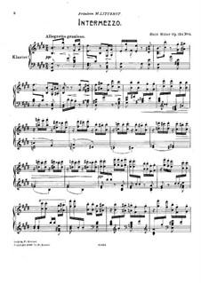 Sechs Oktavenetüden, Op.124: Nr.4 Intermezzo by Hans Huber