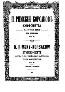 Sinfonietta über russische Themen, Op.31: Sinfonietta über russische Themen by Nikolai Rimsky-Korsakov