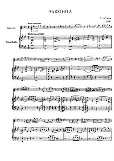 Chaconne in g-Moll: Für Violine und Klavier by Tomaso Vitali