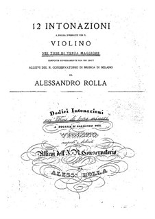 Ventiquattro intonazioni per il violino: Ventiquattro intonazioni per il violino by Alessandro Rolla