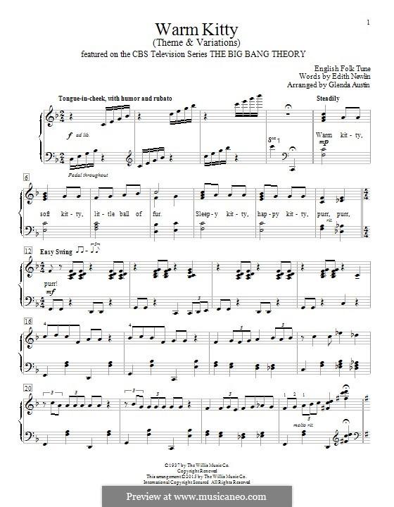 Warm Kitty: Für Klavier by folklore