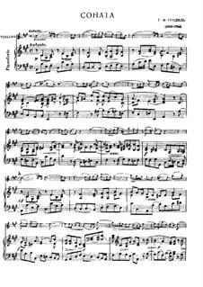 Sonate für Violine und Cembalo in A-Dur , HWV 361 Op.1 No.3: Version für Violine und Klavier by Georg Friedrich Händel