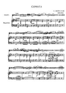 Sonate für Violine und Basso Continuo in c-Moll: Version für Violine und Klavier by Francesco Geminiani