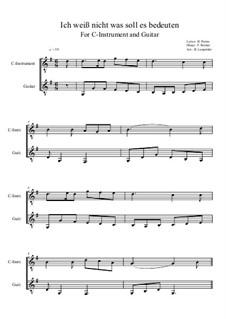 Die Lorelei: For C-instrument and guitar (C-Dur) by Friedrich Silcher