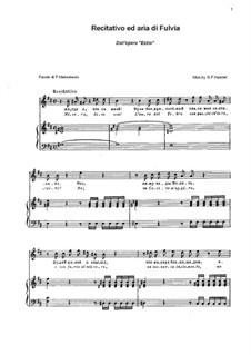 Ezio, HWV 29: Recitativo ed aria di Fulvia by Georg Friedrich Händel