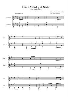 Nr.4 Wiegenlied: For two guitars by Johannes Brahms