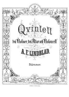 Streichquintett in F-Dur: Violinstimme I by Adolf Fredrik Lindblad
