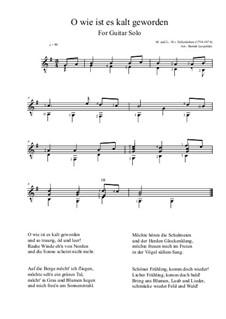 O wie ist es kalt geworden: For guitar solo by Hoffmann von Fallersleben