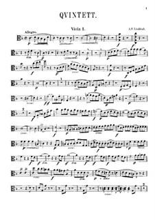Streichquintett in F-Dur: Violastimme I by Adolf Fredrik Lindblad