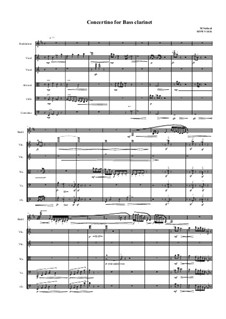 Concertino for Bass Clarinet and Stringorchestra, MVWV 1031: Concertino for Bass Clarinet and Stringorchestra by Maurice Verheul