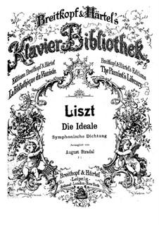Symphonische Dichtung Nr.12 'Die Ideale' für Orchester, S.106: Version für Klavier by Franz Liszt