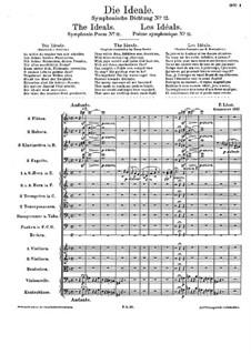 Symphonische Dichtung Nr.12 'Die Ideale' für Orchester, S.106: Vollpartitur by Franz Liszt