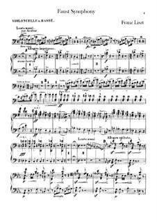 Eine Faust-Symphonie, S.108: Cello- und Kontrabass-Stimme by Franz Liszt