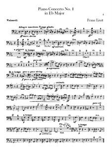 Klavierkonzert Nr.1, S.124: Cellostimme by Franz Liszt