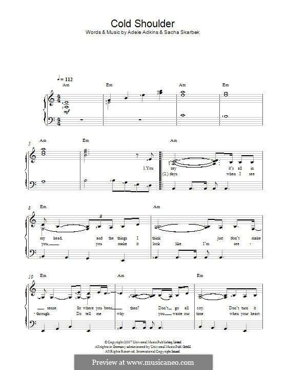 Cold Shoulder: Für Stimme und Klavier by Adele