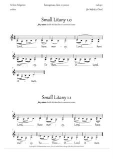 Small Litany 1.0-1.1, in EN: Small Litany 1.0-1.1, in EN by Rada Po