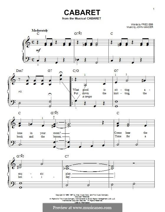 Cabaret (Liza Minnelli): Für Klavier by John Kander