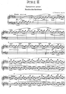 Zwölf transzendentale Etüden, Op.11: Nr.2 Ronde des fantômes by Sergei Lyapunov