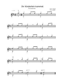 Die Kinder bei der Krippe: Für Gitarre (D-Dur) by Johann Abraham Schulz