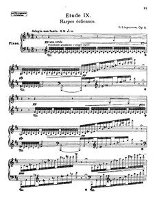 Zwölf transzendentale Etüden, Op.11: Nr.9 Harpes éoliennes by Sergei Lyapunov