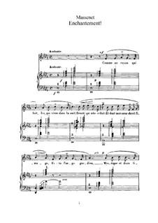 Enchantement: Für hohe Stimme und Klavier by Jules Massenet