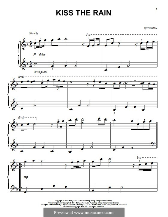kiss the rain guitar sheet music pdf