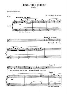 Le sentier perdu: Für Mittelstimme und Klavier by Jules Massenet
