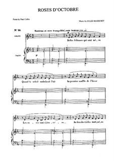 Roses d'Octobre: Für Mittelstimme und Klavier by Jules Massenet