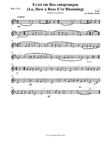 Es ist ein Ros entsprungen: Part 5 Eb by Unknown (works before 1850)