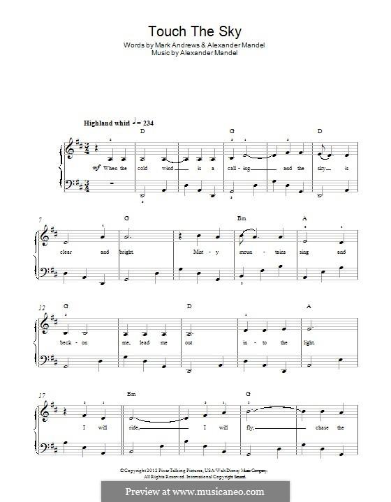 Touch the Sky (Julie Fowlis): Für Klavier by Alexander L. Mandel