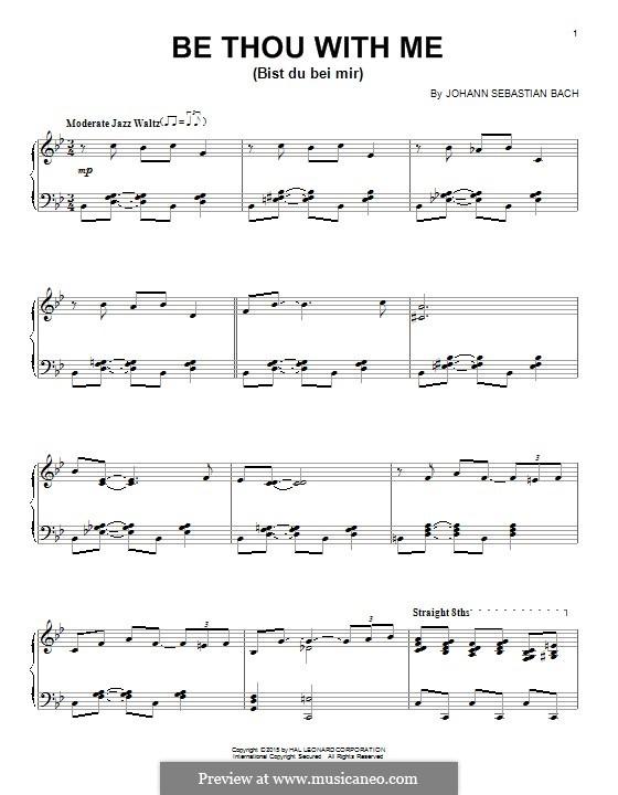 Nr.25 Bist du bei mi: Für Klavier by Johann Sebastian Bach