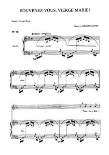 Souvenez-vous, Vierge Marie: Für Mittelstimme und Klavier by Jules Massenet