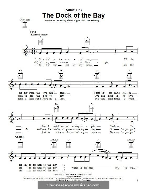 (Sittin' On) The Dock of the Bay: Für Ukulele by Otis Redding, Steve Cropper