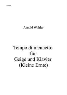 Tempo di menuetto für Geige und Klavier: Tempo di menuetto für Geige und Klavier by Dr. Arnold Wohler