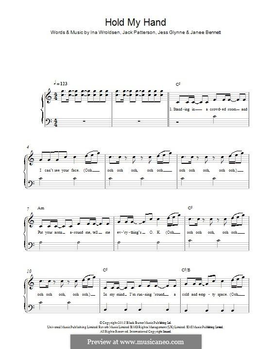Hold My Hand: Für Klavier by Ina Wroldsen, Jack Patterson, Jess Glynne, Janee Bennett