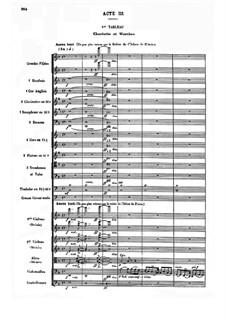 Werther: Akt III, Bild I by Jules Massenet