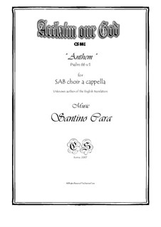 Acclaim our God - Anthem - SAB choir a cappella, CS881: Acclaim our God - Anthem - SAB choir a cappella by Santino Cara