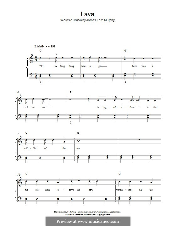 Lava: Für Klavier by James Murphy