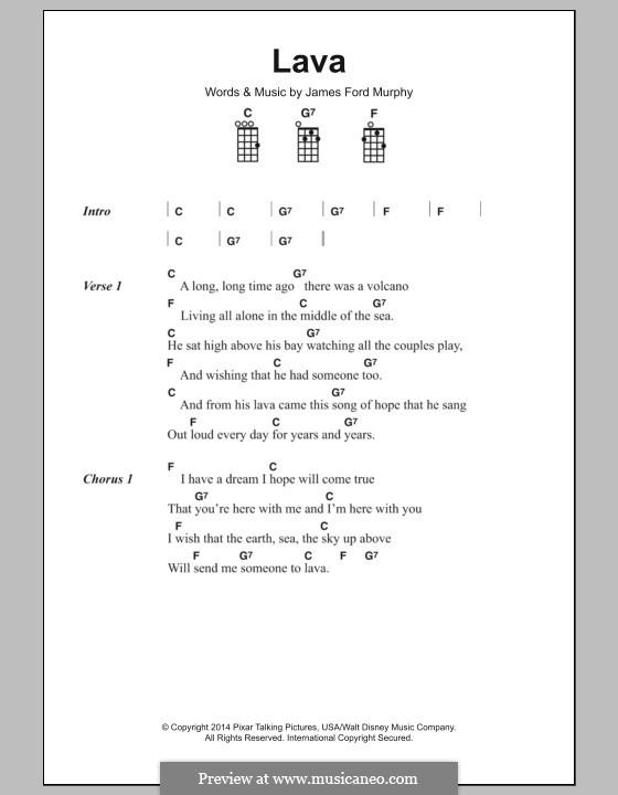 Lava: Text und Akkorde by James Murphy