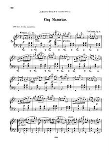 Mazurkas, Op.7: Vollsammlung by Frédéric Chopin