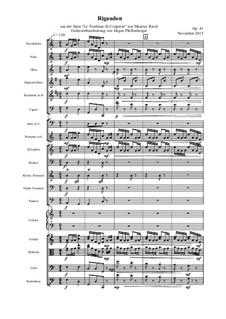 Rigaudon, Op.41: Rigaudon by Maurice Ravel