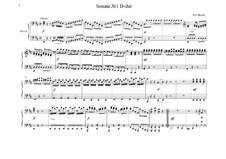 Sonate für Klavier, vierhändig in D-Dur, K.381: Vollpartitur by Wolfgang Amadeus Mozart