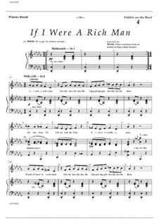 If I Were a Rich Man (from The Fiddler on the Roof): Für Stimme und Klavier by Jerry Bock