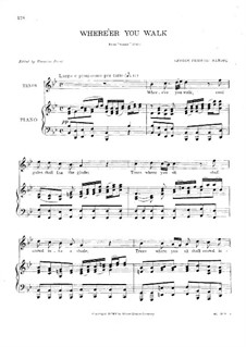 Semele, HWV 58: Where'er You Walk, for voice and piano by Georg Friedrich Händel