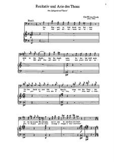 Iphigenie auf Tauris, Wq.46: Rezitativ und Arie des Thoas by Christoph Willibald Gluck