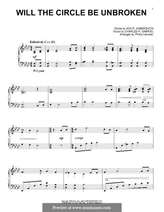 Will the Circle Be Unbroken: Für Klavier by Charles Hutchinson Gabriel
