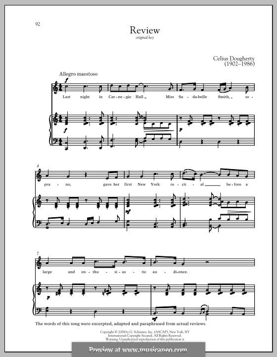 Review: Für Stimme und Klavier by Celius Dougherty