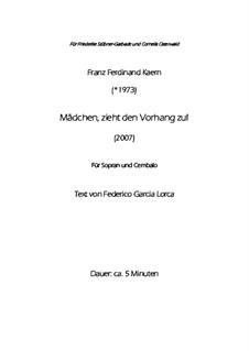 Mädchen, zieht den Vorhang zu (2007): Mädchen, zieht den Vorhang zu (2007) by Franz Ferdinand Kaern