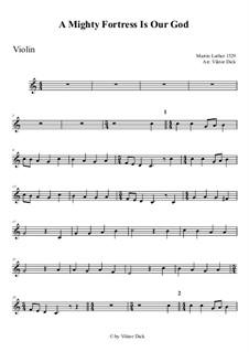 Ein feste Burg ist unser Gott: Für Violine by Martin Luther