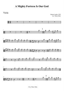 Ein feste Burg ist unser Gott: For viola by Martin Luther